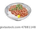 Natto rice 47881148