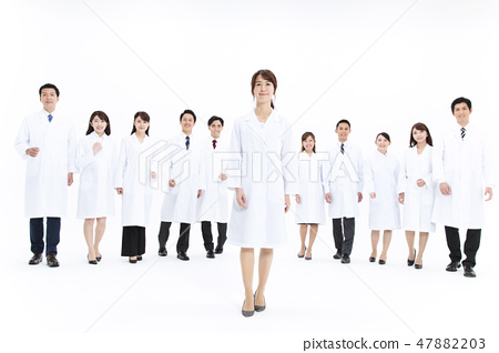 科學家科學博士科學團隊大型團體研究女性男性 47882203