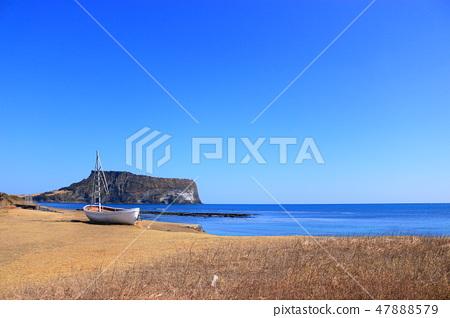 일출봉,광치기해변,연안, 명소,돛배, 47888579