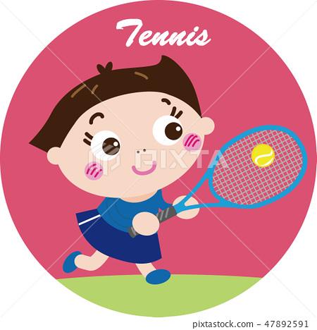 網球/硬式網球(圖標) 47892591