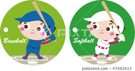 Baseball & softball (icon) 47892613