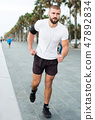 Running man, jogging 47892834