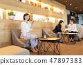 女商人辦公室企業圖像 47897383