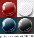 Transparency button, and bubble shape. 47897690
