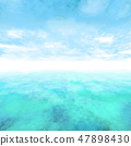 Vector abstract cloud and ocean background. 47898430