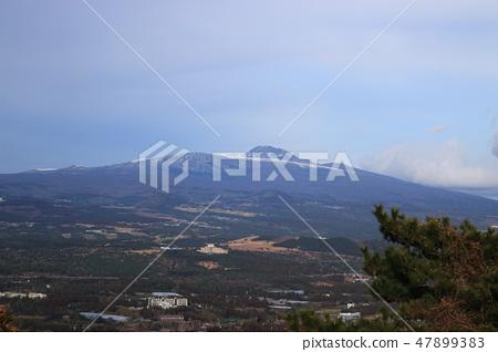 군산오름,전망,농촌,한라산, 47899383