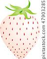 White strawberry 47903285