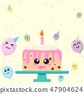 cartoon kawaii happy birthday 47904624