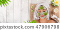 Young healthy woman with face mask. 47906798
