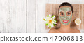 Young healthy woman with face mask. 47906813