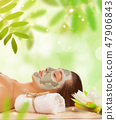 Young healthy woman with face mask. 47906843