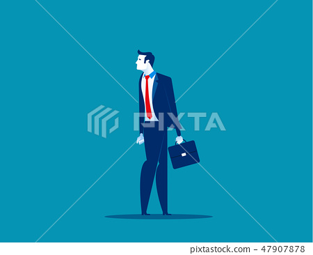 Businessman heading in opposite direction 47907878