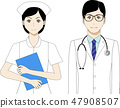 Illustration of a doctor and a nurse 47908507