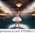 girl dreaming of becoming a ballerina 47908671