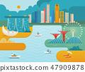 Singapore city skyline. 47909878