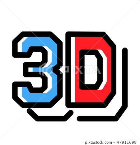 3D LineColor illustration 47911699