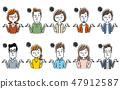 Multiple men and women: set 47912587