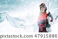 滑雪者 冬天 冬 47915886