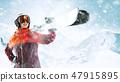 滑雪者 女性 女孩 47915895