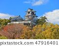 【Kochi Prefecture】 Kochi castle castle tower under clear weather 47916401