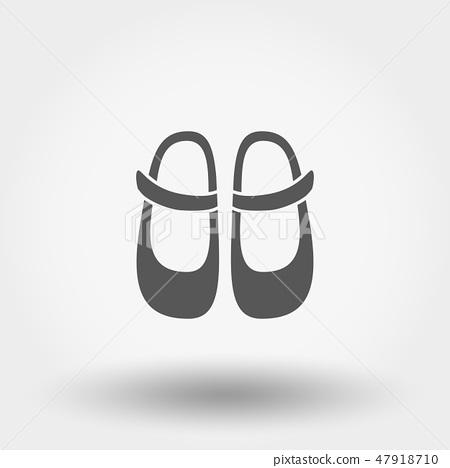 Baby Shoes Icon Vector Silhouette Flat Design Stock Illustration 47918710 Pixta