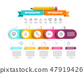 Vector Infographics Design with Icons 47919426