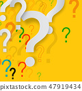 Mystery Concept with Paper Cut Question Marks 47919434