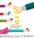 Cash and Credit Cards Payment Concept. 47919437