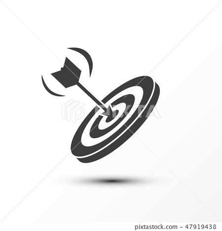 Target with Dart Icon. Vector Game Strategy Symbol 47919438