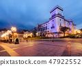 City castle in Bielsko-biala, Poland in the night. 47922552