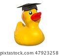Graduation Rubber Duck, 3D rendering 47923258