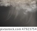 set of vector clouds and smoke on transparent 47923754