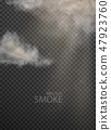 set of vector clouds and smoke on transparent 47923760