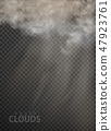 set of vector clouds and smoke on transparent 47923761