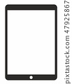 Tablet frame vector icon eps 8 47925867
