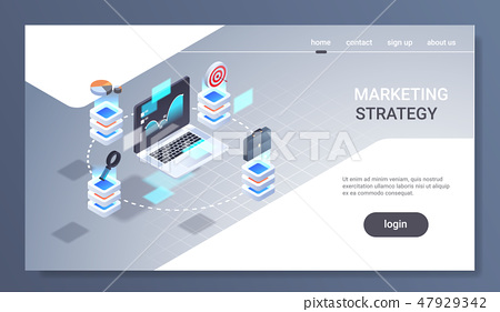 laptop screen financial chart statistic data finance analytics report marketing strategy concept 3d 47929342