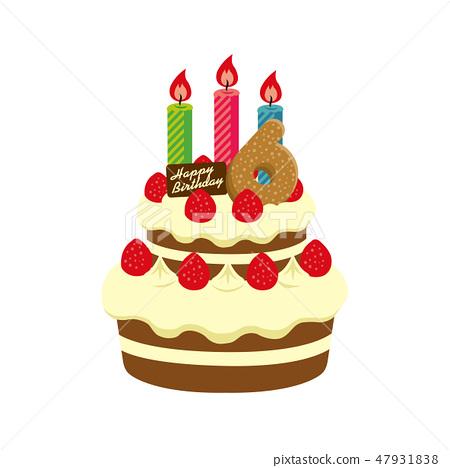 Incredible Birthday Birthday Cake Illustration 6 Years Stock Funny Birthday Cards Online Unhofree Goldxyz