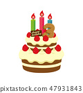 生日·生日蛋糕圖(3歲) 47931843