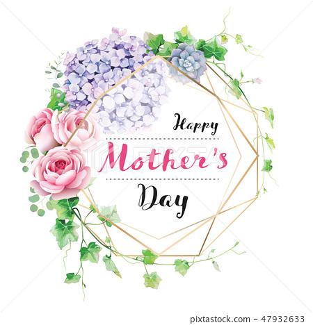 愉快的母亲节卡片母亲节卡片 47932633