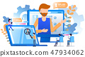 Worker Wear Headset Customer Support Magnifier 47934062