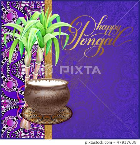 happy Pongal greeting card 47937639