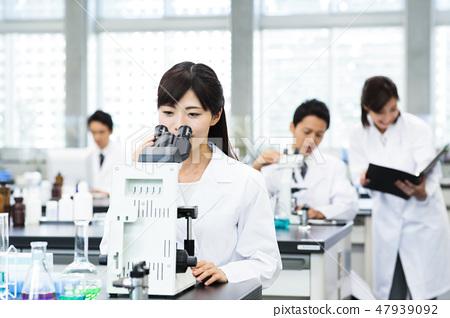 科學實驗科學家化學家 47939092
