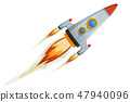 Comic Rocket Ship 47940096
