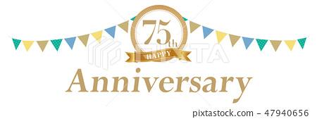 装饰75周年纪念日 47940656