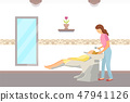 Hairdressing Salon, Hair Wash Done by Hairdresser 47941126