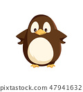 Penguin Animal Standing with Hands on Sides Vector 47941632