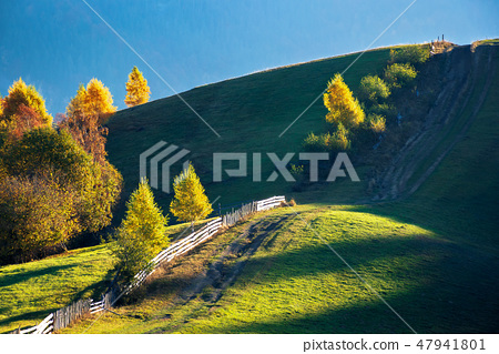 beautiful autumn countryside in mountains 47941801