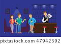 Nightclub Bartender Pouring Alcoholic Drinks Glass 47942392