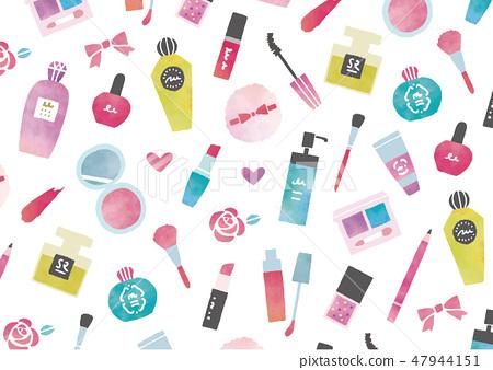 化妝品水彩紋理 47944151