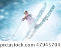 滑雪 雪 冬天 47945704